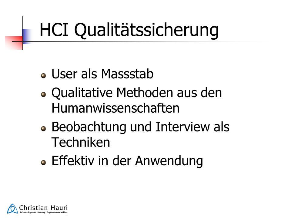 HCI Qualitätssicherung