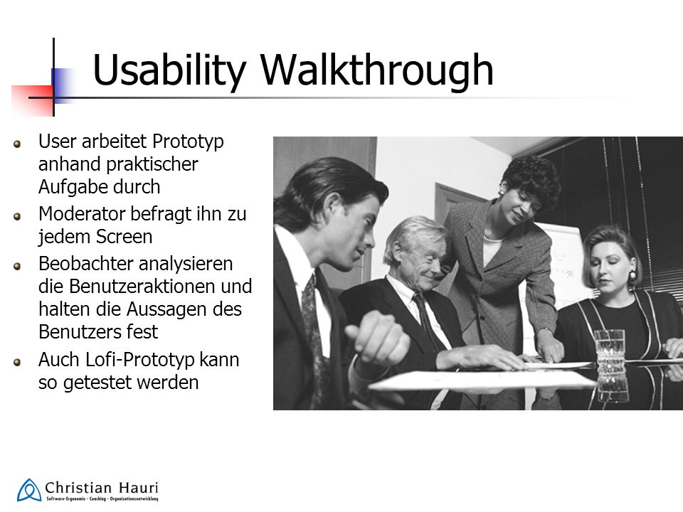 Usability Walkthrough
