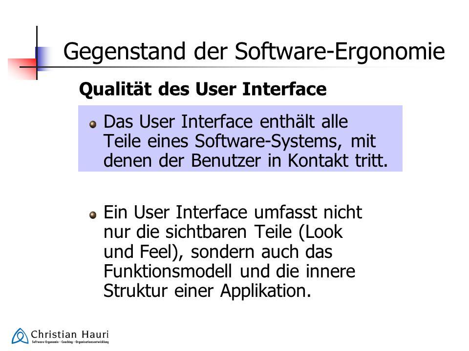 Gegenstand der Software-Ergonomie