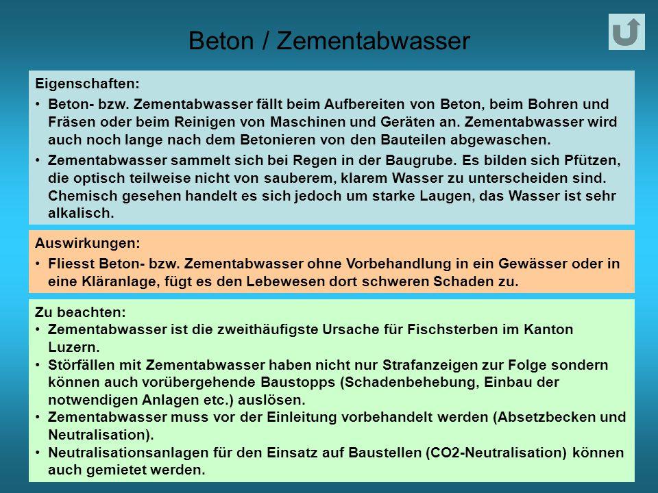 Beton / Zementabwasser