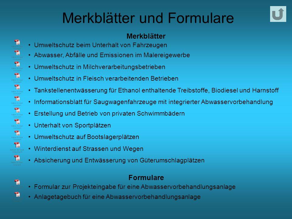Merkblätter und Formulare