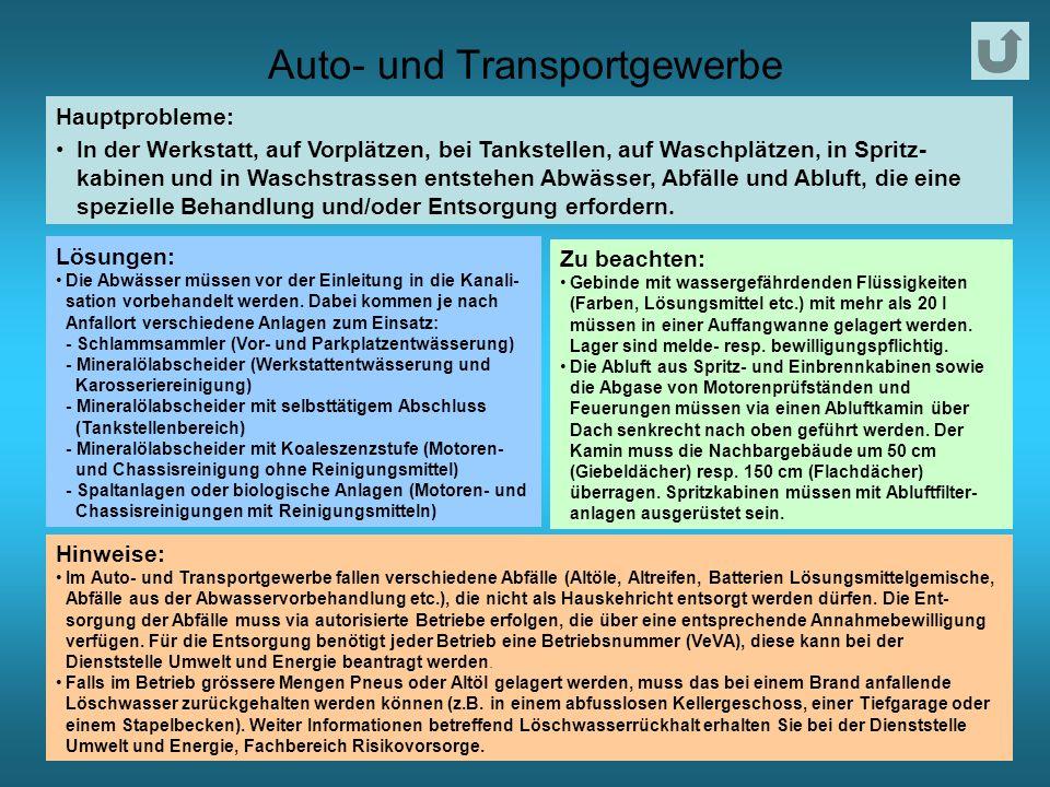 Auto- und Transportgewerbe