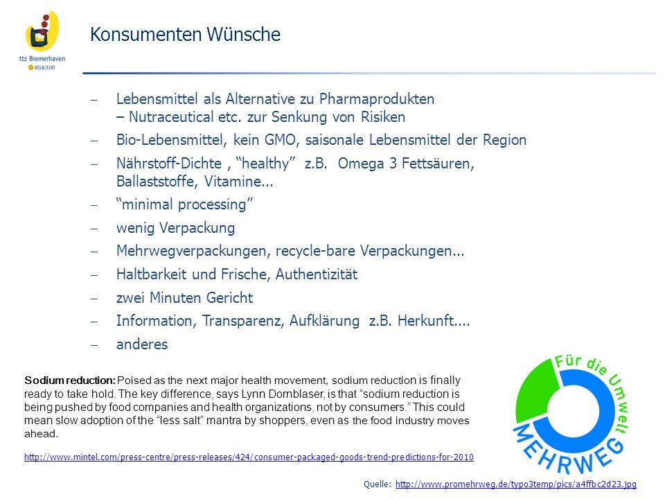 Konsumenten Wünsche Lebensmittel als Alternative zu Pharmaprodukten – Nutraceutical etc. zur Senkung von Risiken.