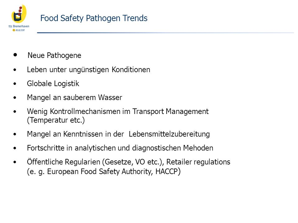 Food Safety Pathogen Trends