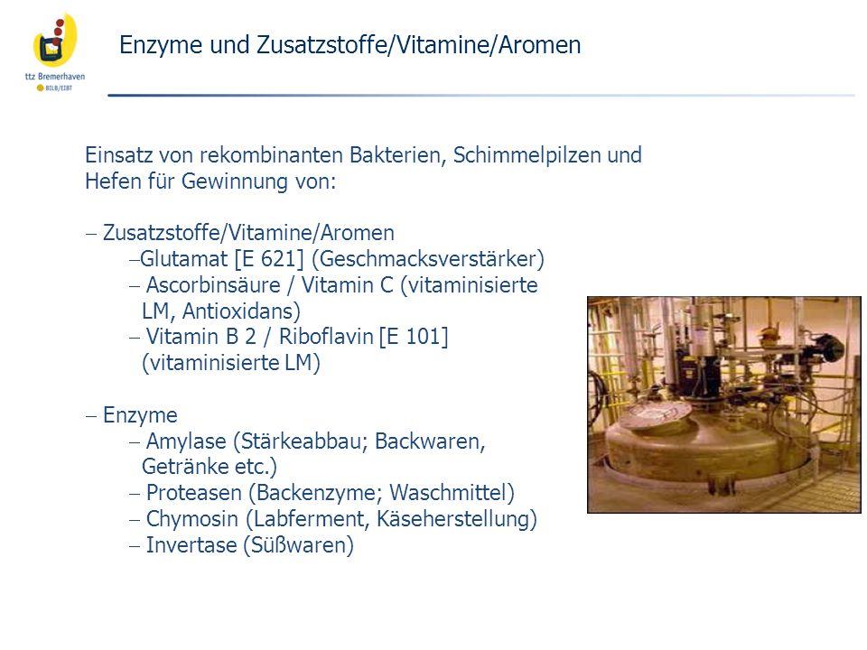 Enzyme und Zusatzstoffe/Vitamine/Aromen