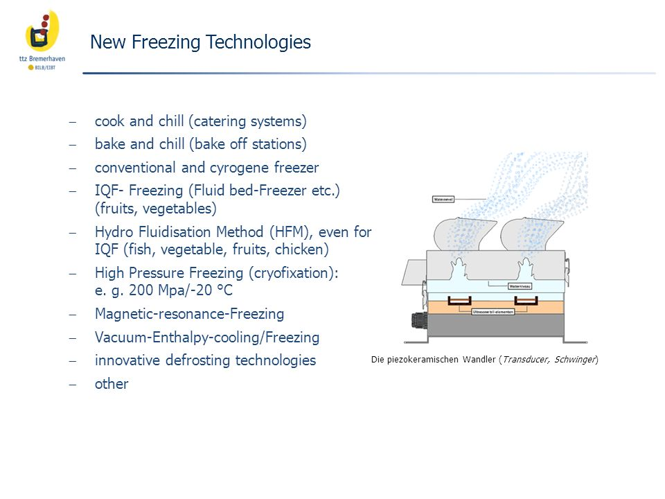 New Freezing Technologies