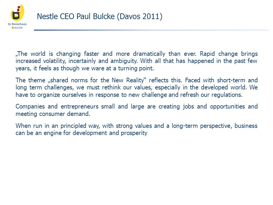 Nestle CEO Paul Bulcke (Davos 2011)