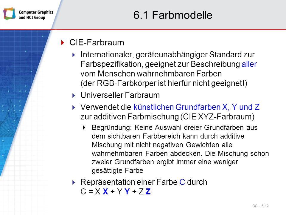 6.1 Farbmodelle CIE-Farbraum