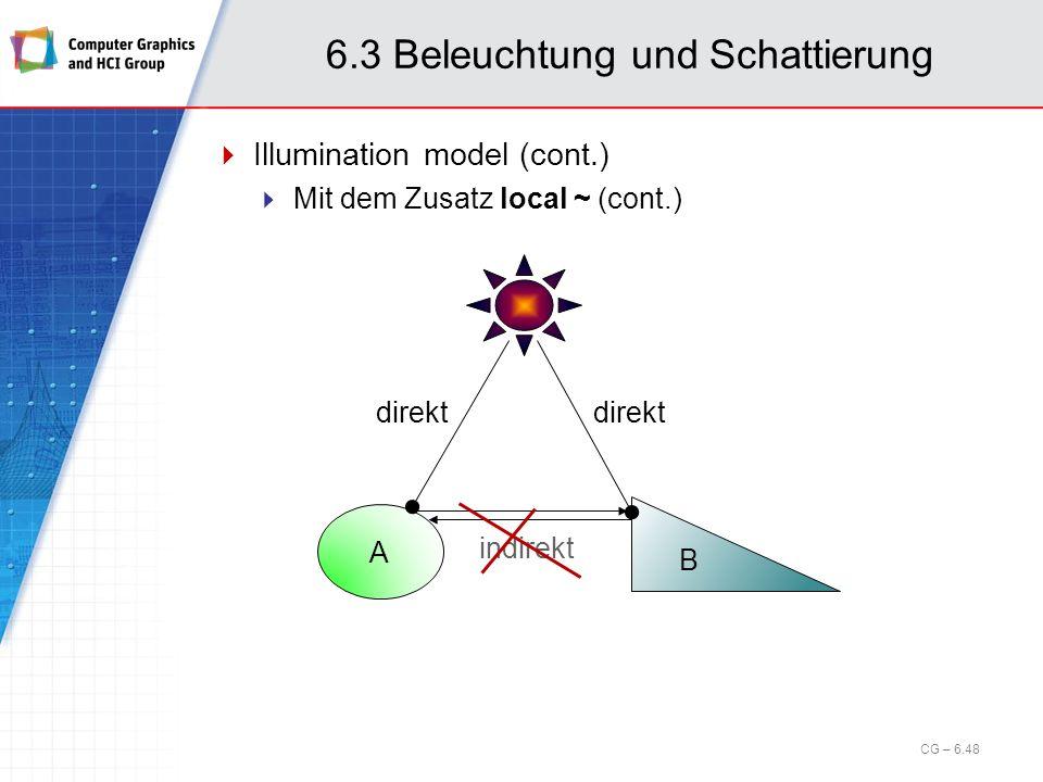 6.3 Beleuchtung und Schattierung