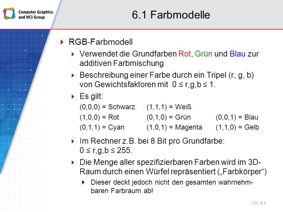 6.1 Farbmodelle RGB-Farbmodell