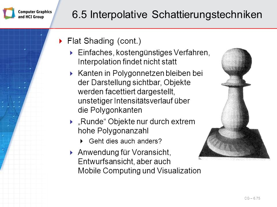 6.5 Interpolative Schattierungstechniken