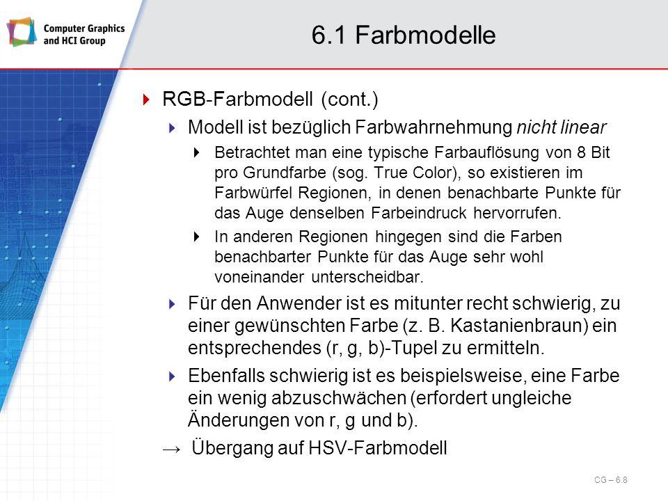 6.1 Farbmodelle RGB-Farbmodell (cont.)