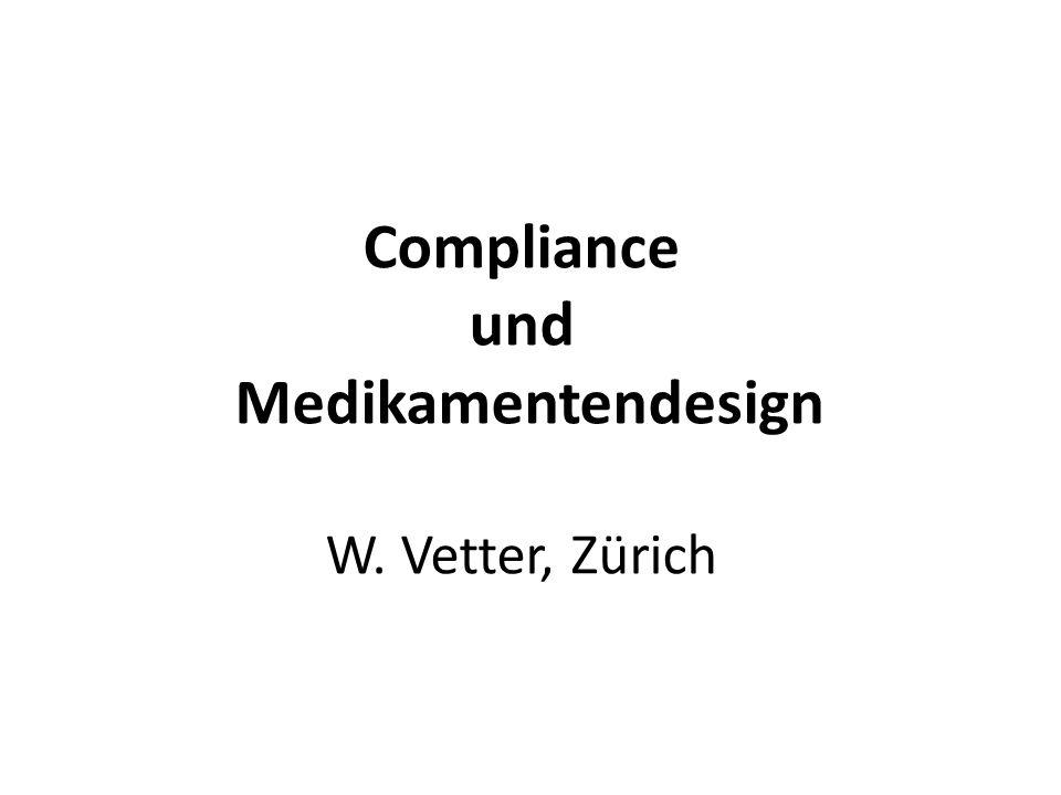 Compliance und Medikamentendesign W. Vetter, Zürich