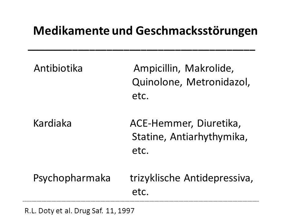 Medikamente und Geschmacksstörungen