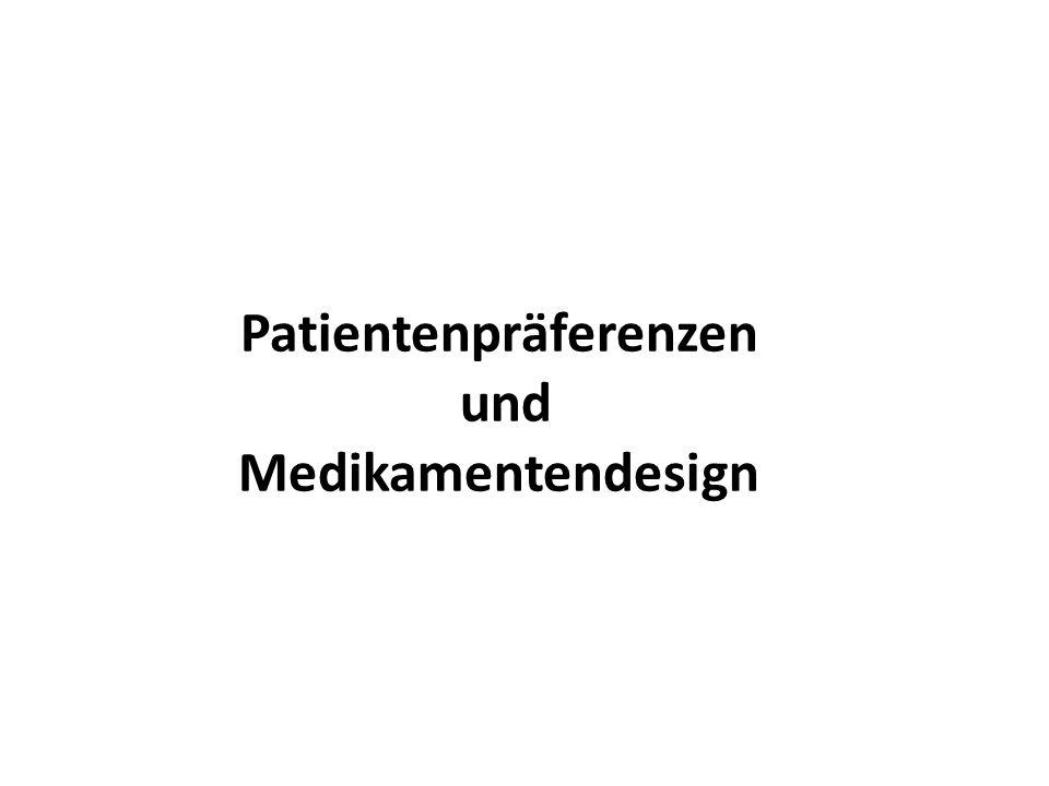 Patientenpräferenzen und Medikamentendesign