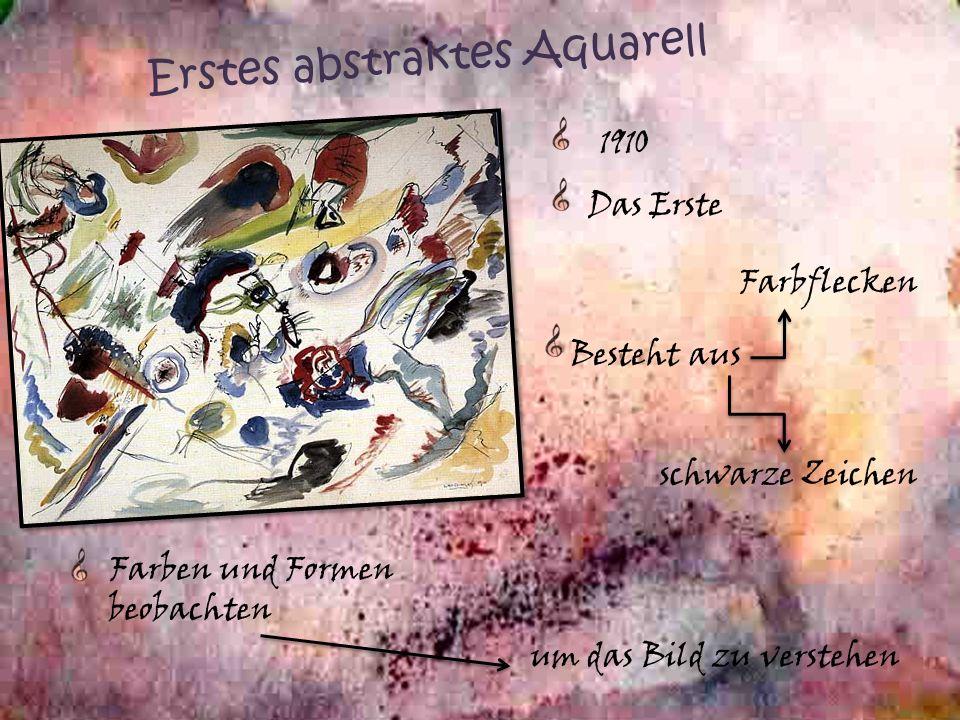 Erstes abstraktes Aquarell