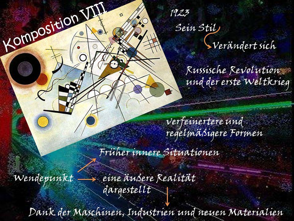 Komposition VIII 1923 Sein Stil Verändert sich