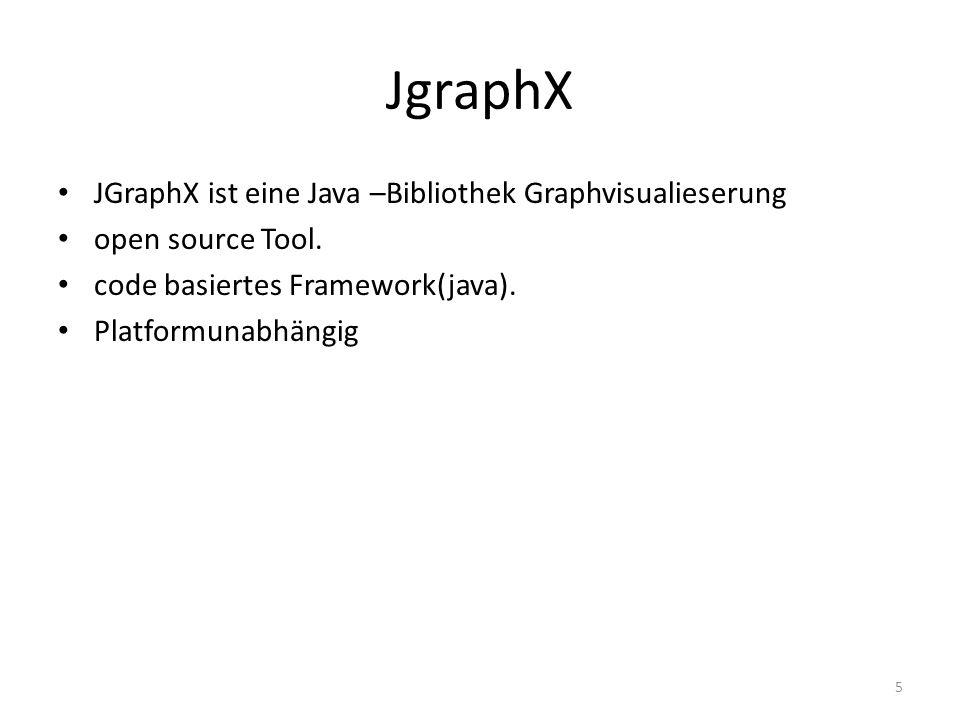 JgraphX JGraphX ist eine Java –Bibliothek Graphvisualieserung