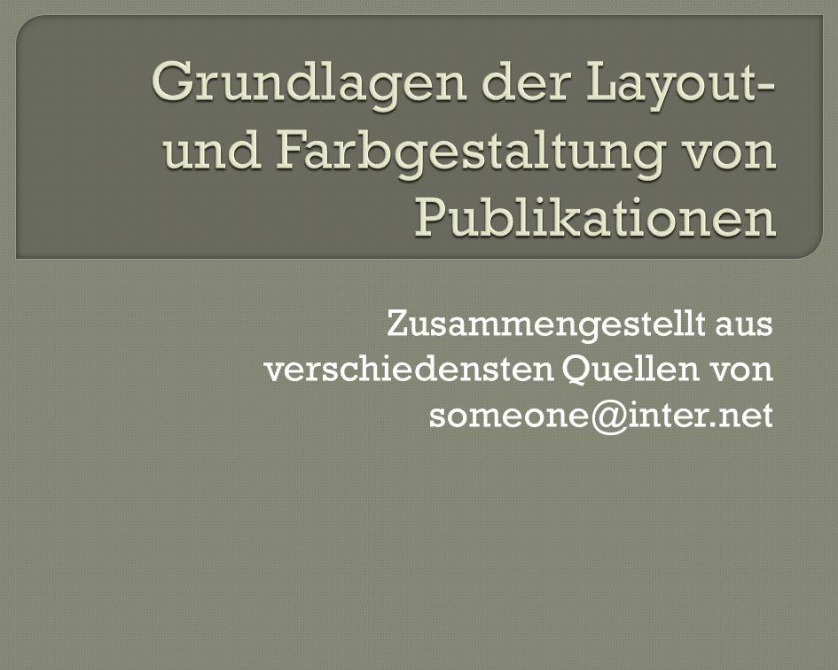 Grundlagen der Layout- und Farbgestaltung von Publikationen