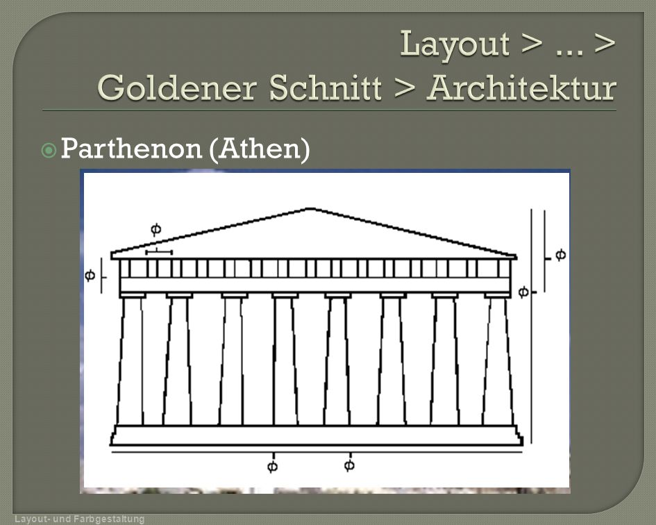 Layout > ... > Goldener Schnitt > Architektur