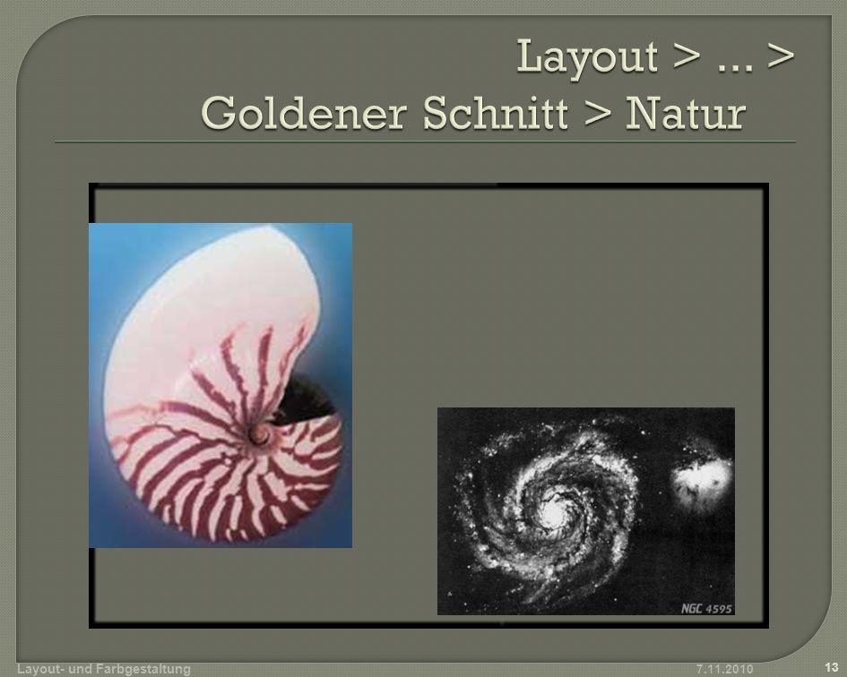 Layout > ... > Goldener Schnitt > Natur