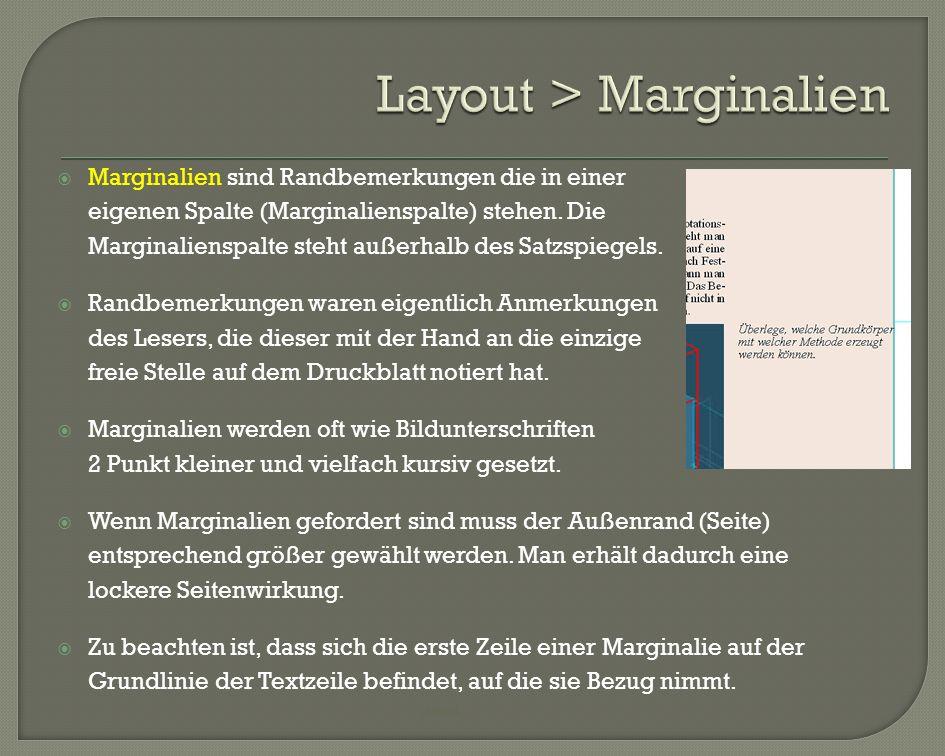 Layout > Marginalien
