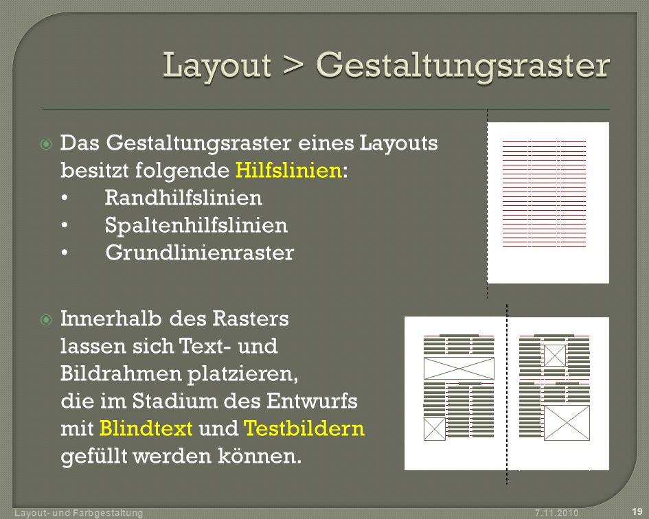 Layout > Gestaltungsraster