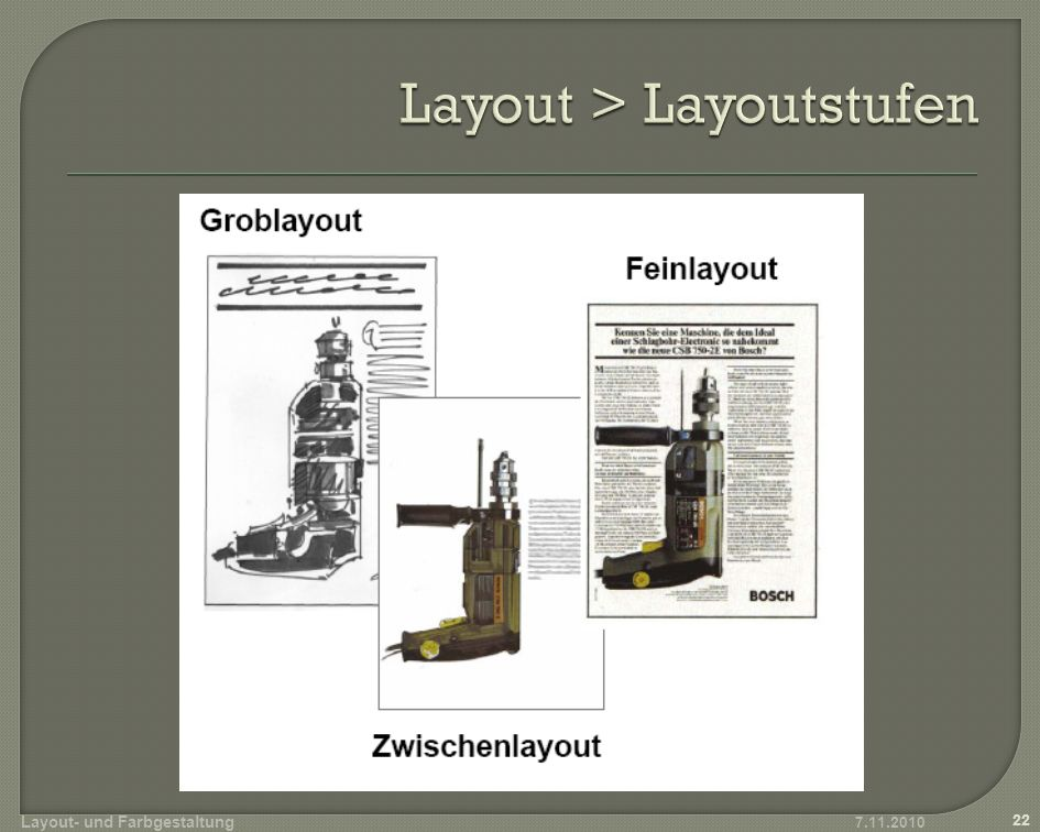 Layout > Layoutstufen