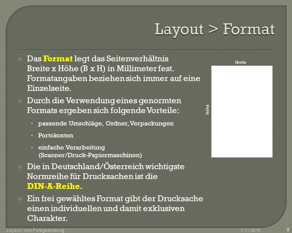 Layout > Format