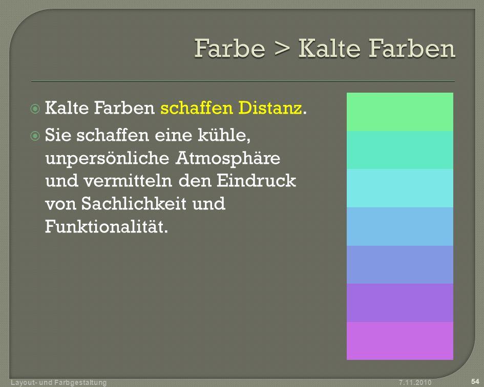 Farbe > Kalte Farben