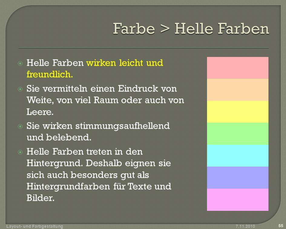 Farbe > Helle Farben