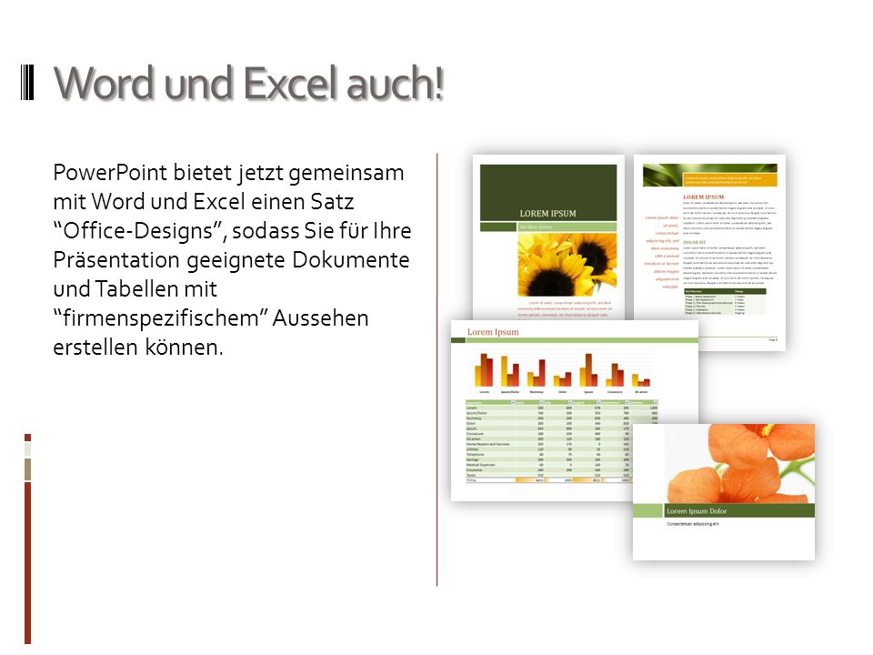 Word und Excel auch!