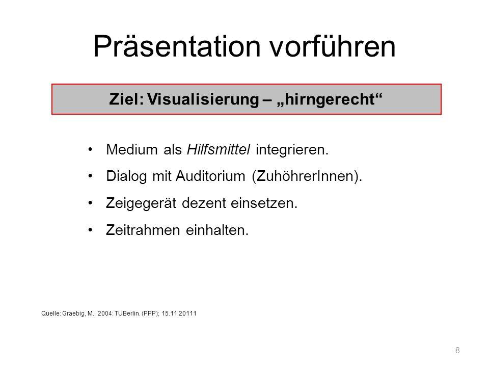 Präsentation vorführen