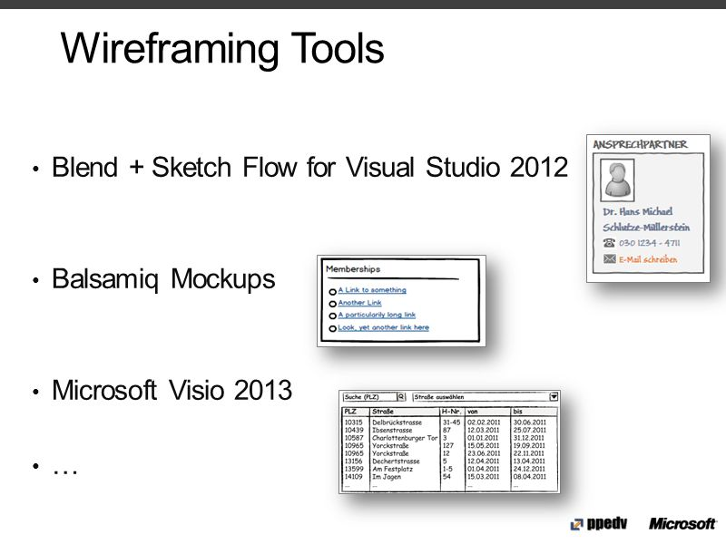 Wireframing Tools Blend + Sketch Flow for Visual Studio 2012