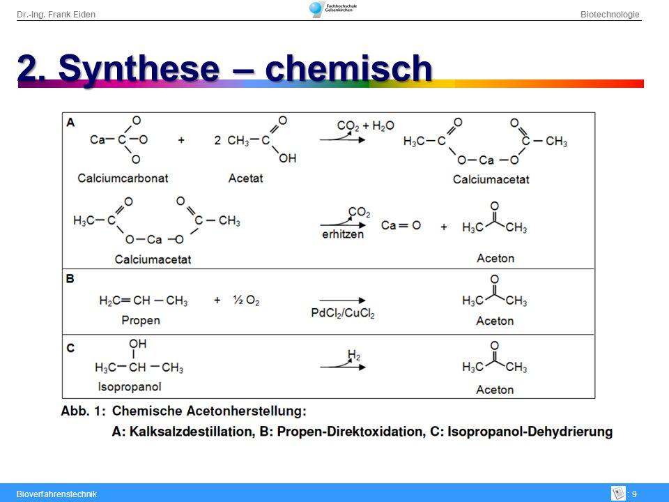 2. Synthese – chemisch