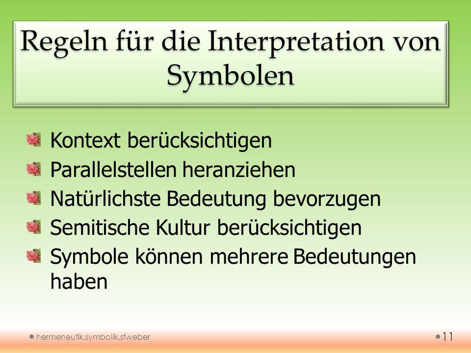 Regeln für die Interpretation von Symbolen
