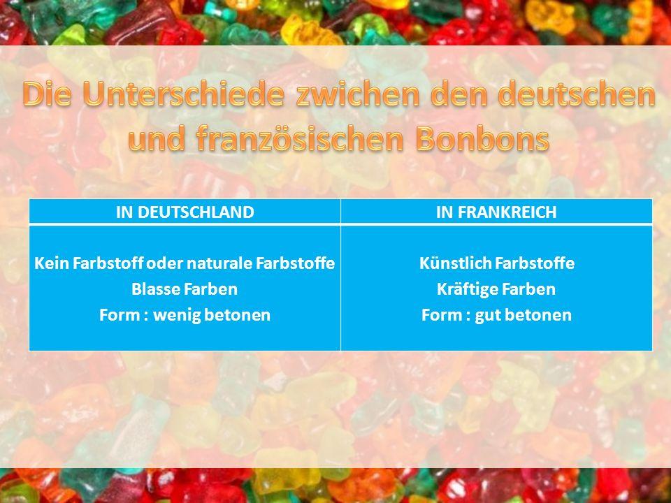 Die Unterschiede zwichen den deutschen und französischen Bonbons