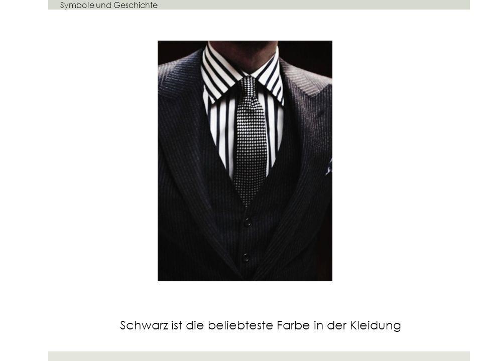 Schwarz ist die beliebteste Farbe in der Kleidung