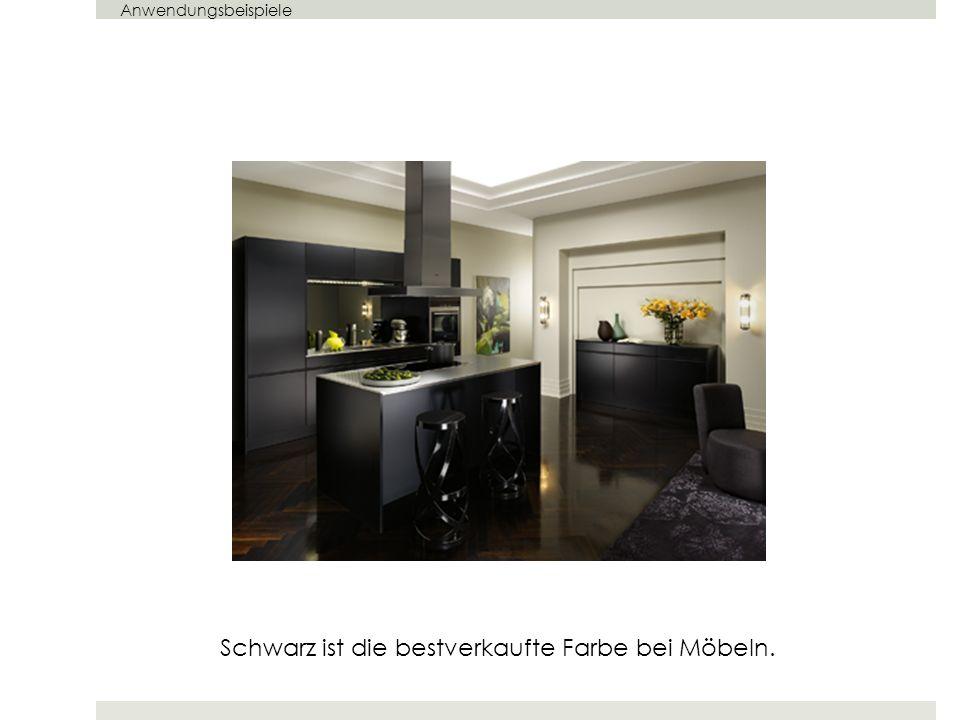 Schwarz ist die bestverkaufte Farbe bei Möbeln.