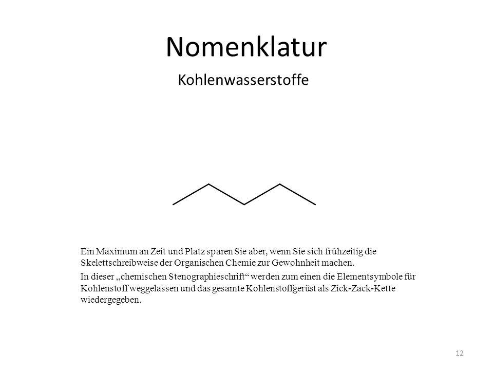 Nomenklatur Kohlenwasserstoffe