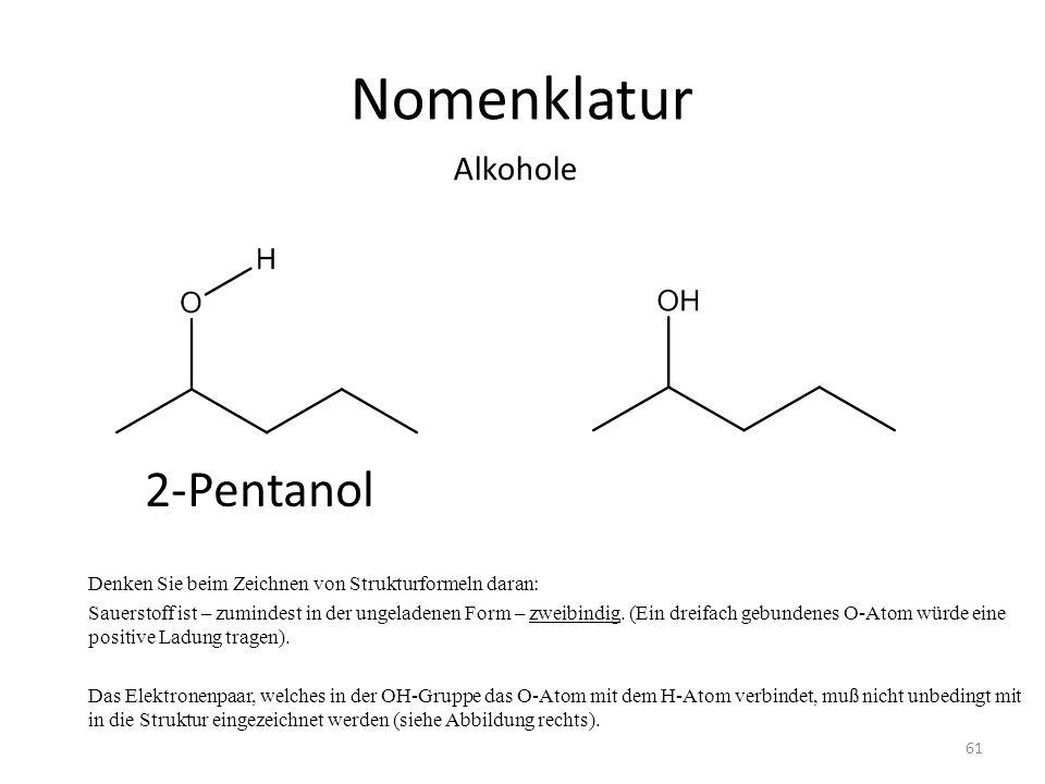 Nomenklatur 2-Pentanol Alkohole