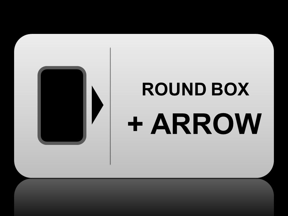 ROUND BOX + ARROW