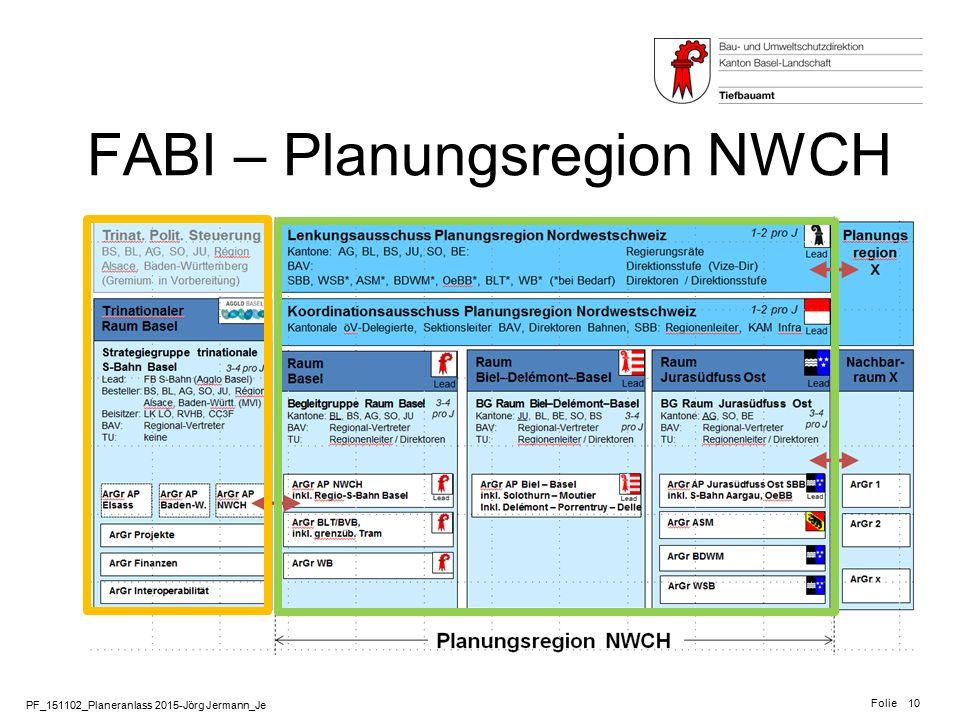 FABI – Planungsregion NWCH