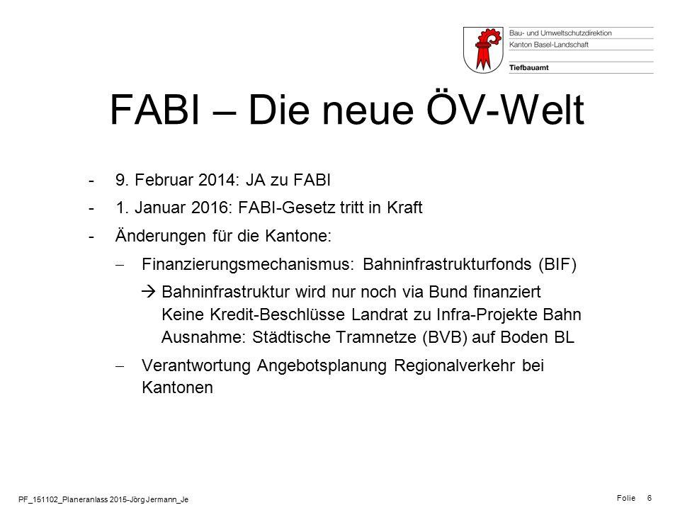 FABI – Die neue ÖV-Welt 9. Februar 2014: JA zu FABI
