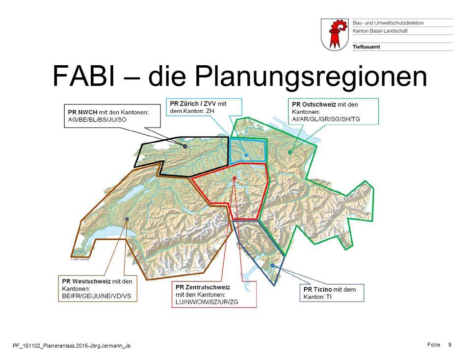 FABI – die Planungsregionen
