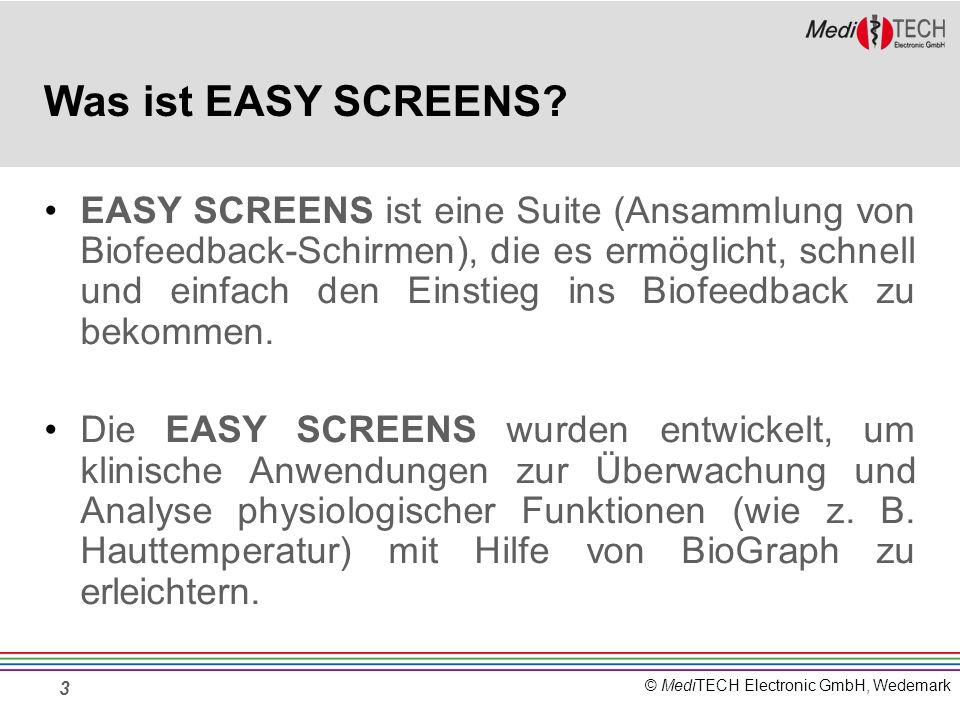 Was ist EASY SCREENS