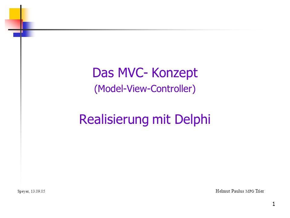 Realisierung mit Delphi
