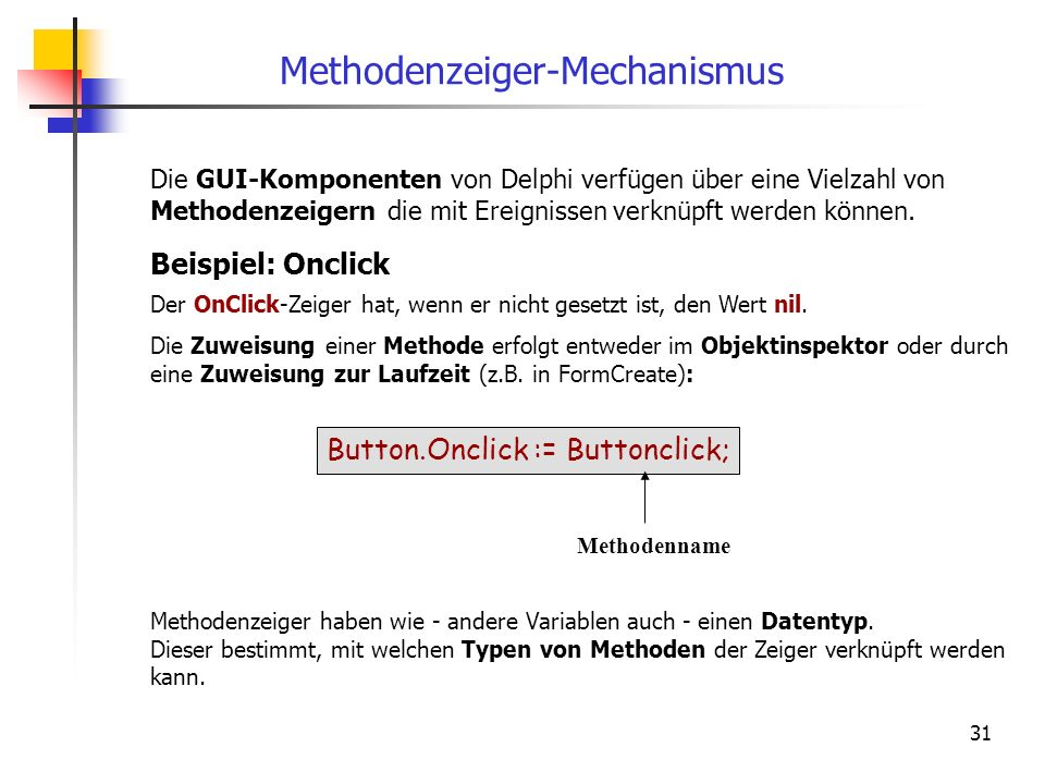Methodenzeiger-Mechanismus
