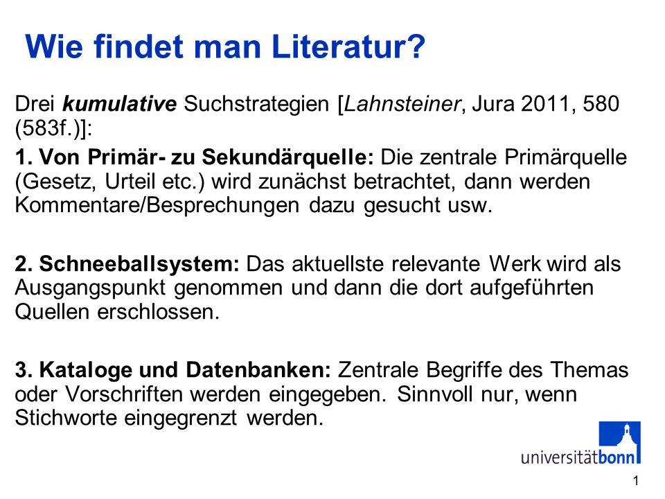 Wie findet man Literatur