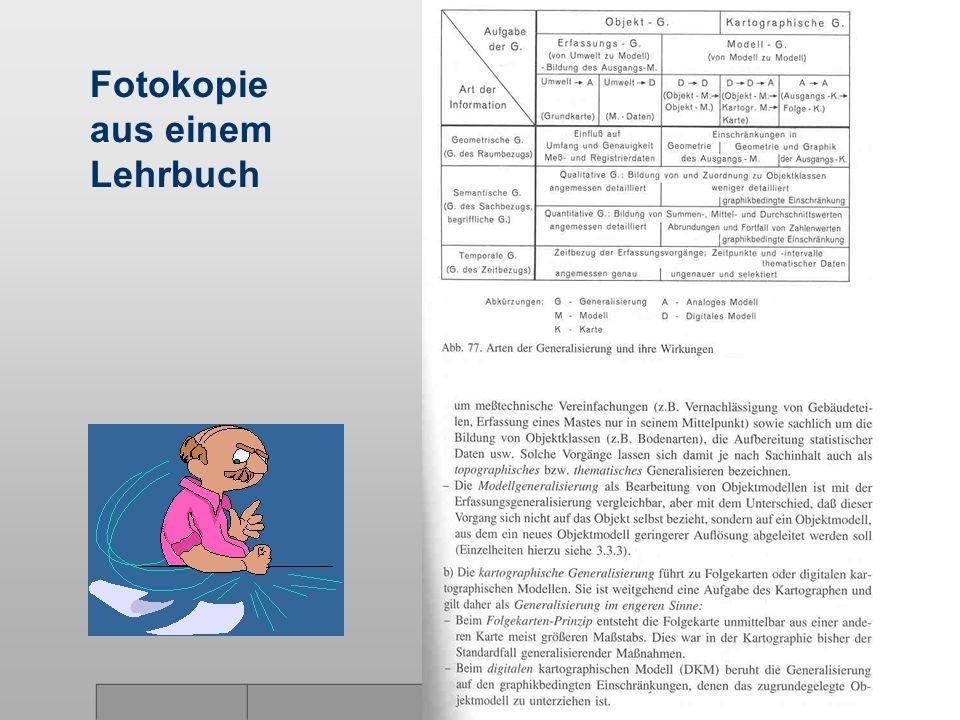 Fotokopie aus einem Lehrbuch
